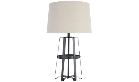 TABLE LAMP (BLACK/SILVER)