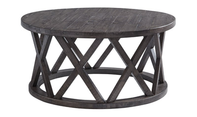 Sharzane Round Cocktail Table-end tables-Ashley-Jennifer Furniture