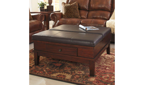 Coffee And End Tables Jennifer Furniture - Leather covered coffee table