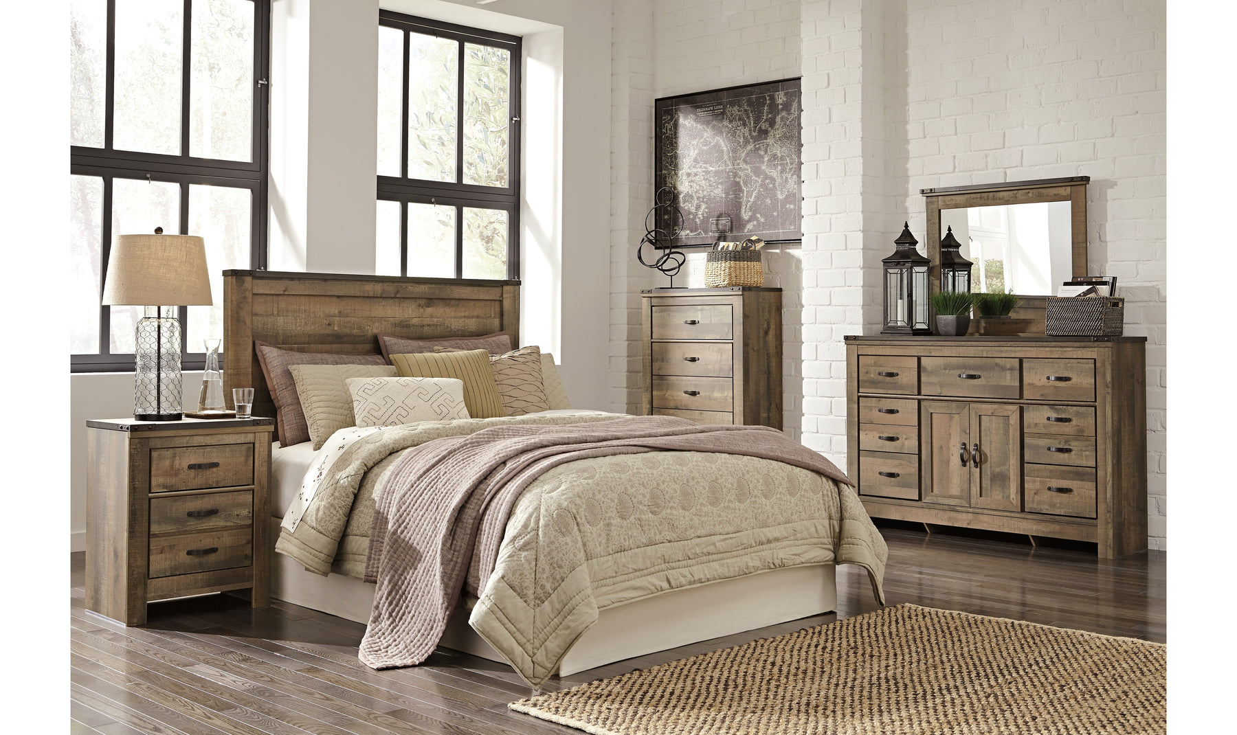 Trinell Queen Size Bedroom Set Jennifer Furniture
