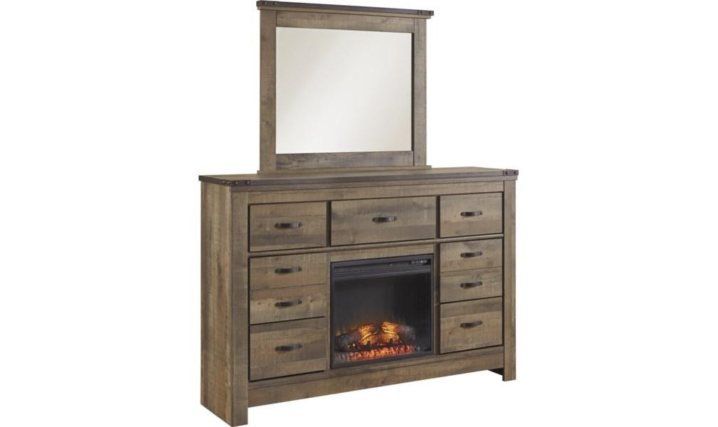 Trinell Dresser with Fireplace Option