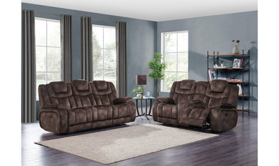 Sam Power Reclining Sofa W/ DDT, Power Headrest & USB-Jennifer Furniture