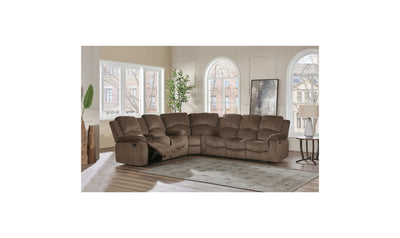 Gladis Sectional-sectionals-Global-Coffee Brown-Jennifer Furniture