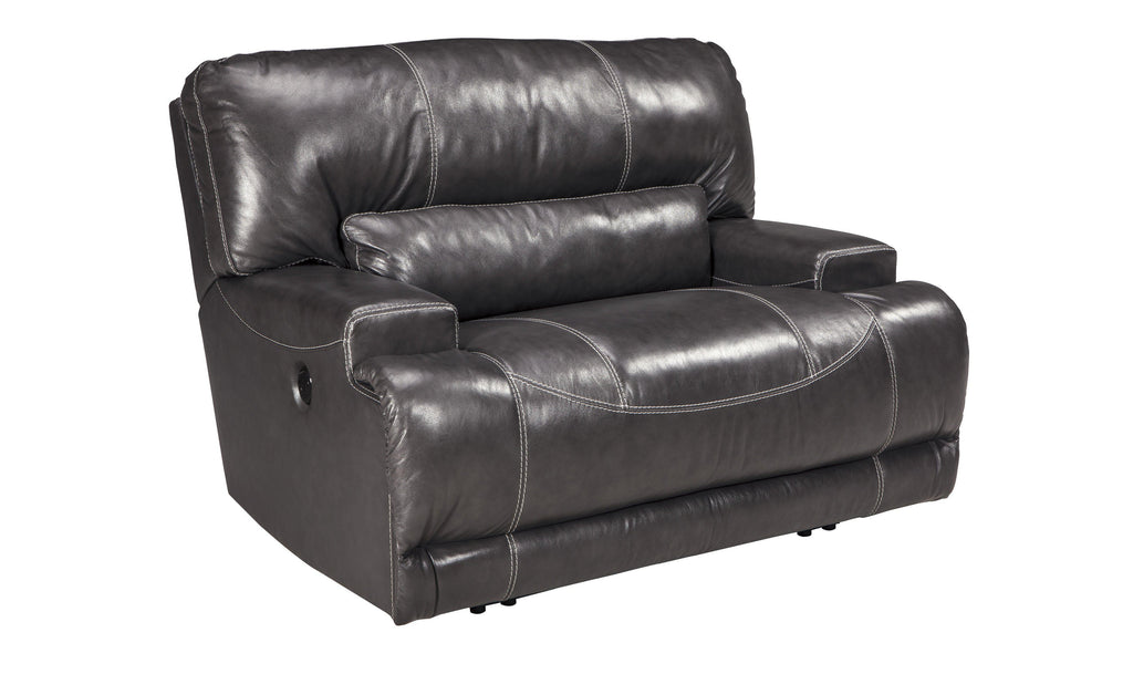 McCaskill Wide Seat Power Recliner-Jennifer Furniture
