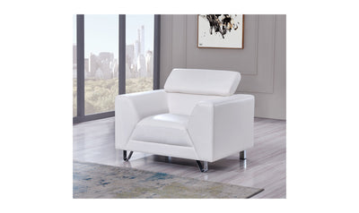 Gloria Chair-accent chairs-Global-White-Jennifer Furniture