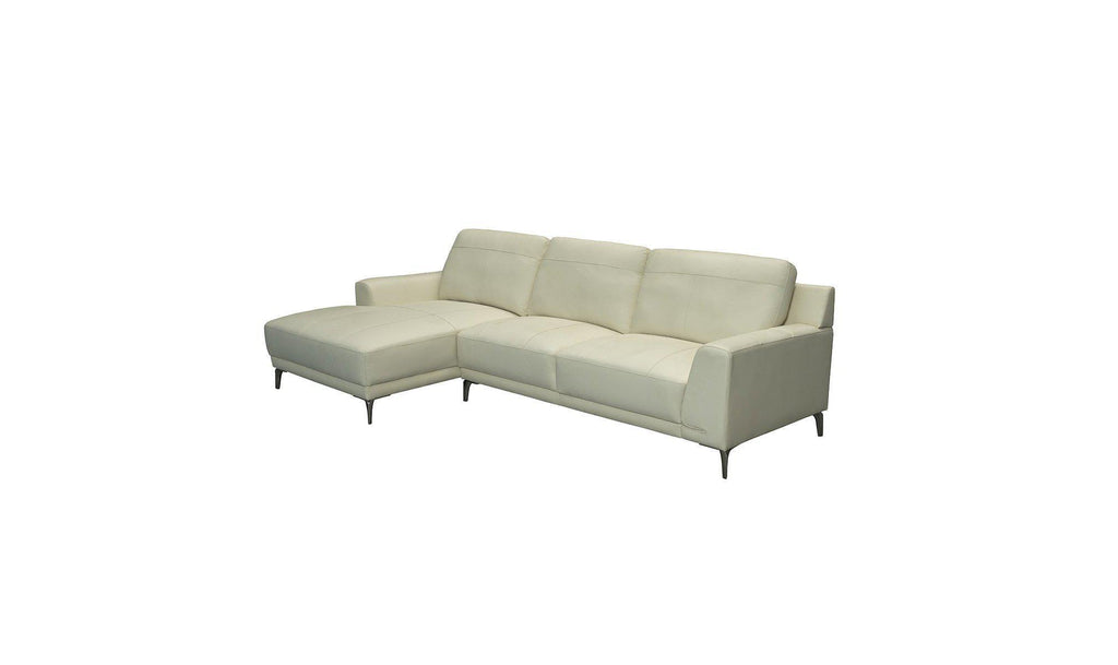 Paula Andes Leather Sectional