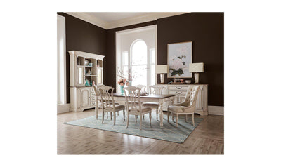 Abbey Dining Set-dining sets-Liberty-White-Table + 2 Upholstered Side Chairs + 4 Side Chairs-Jennifer Furniture