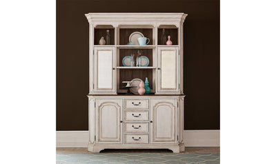 Abbey China Cabinet-cabinets-Liberty-White-Buffet + Buffet Hutch-Jennifer Furniture