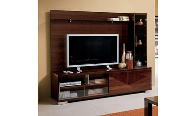 Capri Wall Unit-wall units-ESF-Walnut Brown-Jennifer Furniture