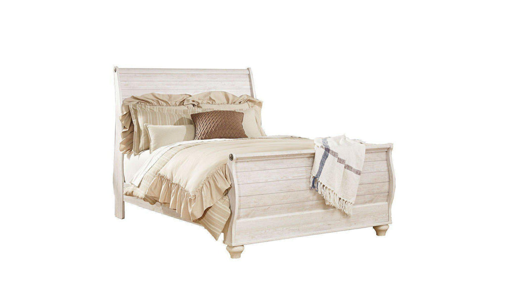 Willowton Sleigh Bedroom Set-Jennifer Furniture