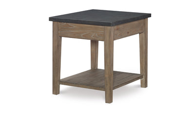 Monteverdi by Rachael Ray Metal Top End Table (VN)-end tables-Legacy Classic Furniture-Jennifer Furniture