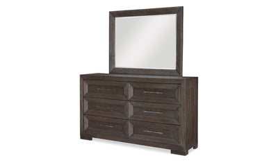 Facets Landscape Mirror-mirrors-Legacy Classic Furniture-Jennifer Furniture