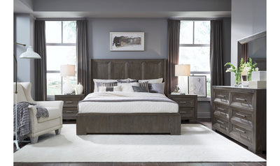 Facets Shelter Bed, CA King 6/0-beds-Legacy Classic Furniture-Jennifer Furniture