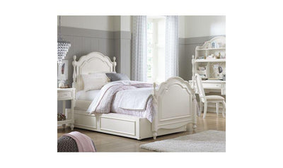 Harmony by Wendy Bellissimo'Ñ¢ Complete Low Poster Bed, Twin-beds-Legacy Classic Furniture-Jennifer Furniture