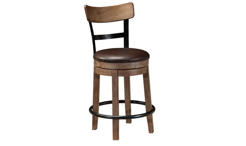 Paloma Upholstered Swivel Stool PAIR-Jennifer Furniture