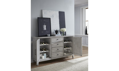 Belhaven Credenza-buffets-Legacy Classic Furniture-Jennifer Furniture