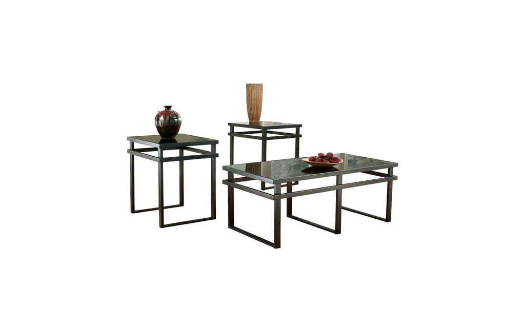 Laney Coffee Table Set ...  sc 1 st  Jennifer Furniture : occasional table set - pezcame.com