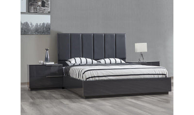 Warsaw Bed Grey-Beds-Modarte-Queen-Jennifer Furniture