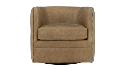 Palazzo Leather Swivel Chair-Chairs-Bernhardt-Jennifer Furniture