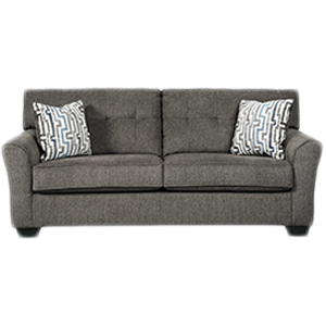 Brown comfortable twin 2 seater sofa with cushions