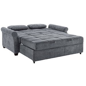 Queen size super comfortable grey sleeper sofa bed with supportive mattress
