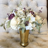 Dried and Preserved Centerpiece Arrangement - Mauve & Creamy White