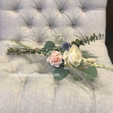 Pink rose eucalyptus dried flower bouquet simple