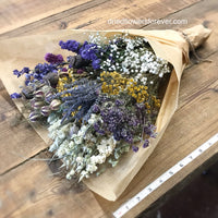 Dried flowers purple lavender DIY bouquet