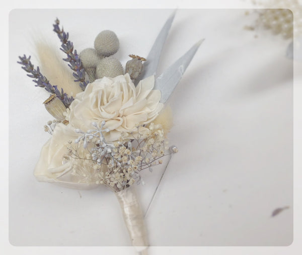 Pin Corsage - Silver Ice Collection with Gem Accents - Keepsake