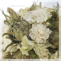 Wedding Bouquet - Woodland Moss Collection - Alternative Keepsake