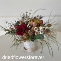 dried flowers preserved rose red peach