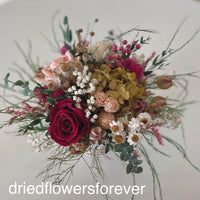dried rose red peach flowers pink
