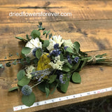 Dried Flower Bouquet - Blue - Gift