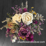 Purple & Mauve Dried Floral Arrangement
