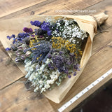 Purple Vintage Wedding Bouquet - Dried Flowers