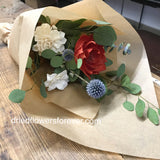 Dried Flower Bouquet - Small - Poppy Red - Gift