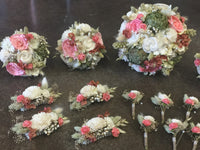 Woodland Moss Wedding Collection with Coral Accents - Preserved Flower Keepsake