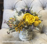Yellow Dried Floral Arrangement