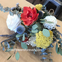 Dried Flower Bouquet - Poppy Red - Gift