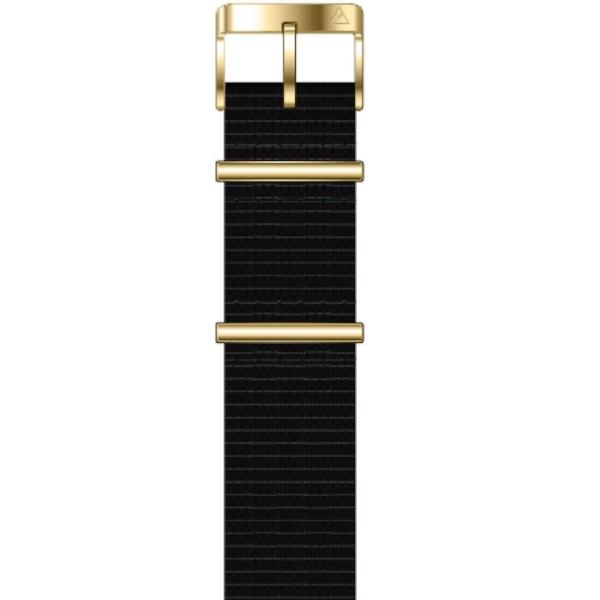 Black/ Gold Buckle Nato