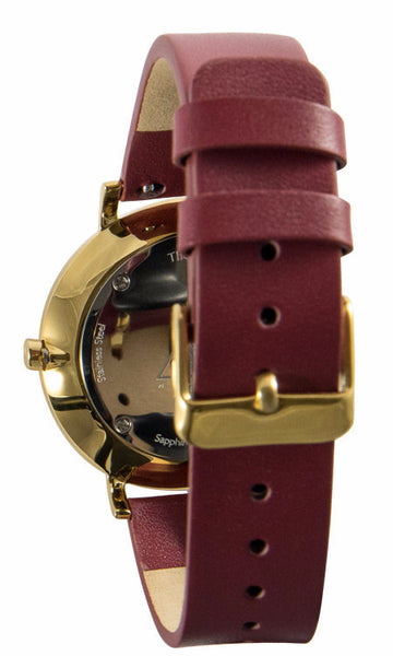 The Debut Black / Gold / Cerise Leather