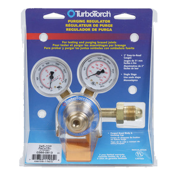 TurboTorch - 245-02P Nitrogen Purge Regulator (0-250 PSI) - 0386-0813