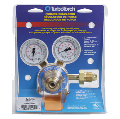 TurboTorch - 245-03P Nitrogen Purge Regulator (0-500 PSI) - 0386-0814
