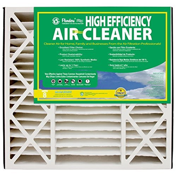 "Flanders - High Efficiency Pleated Air Filter - 20"" x 25"" x 5"" - MERV 8"