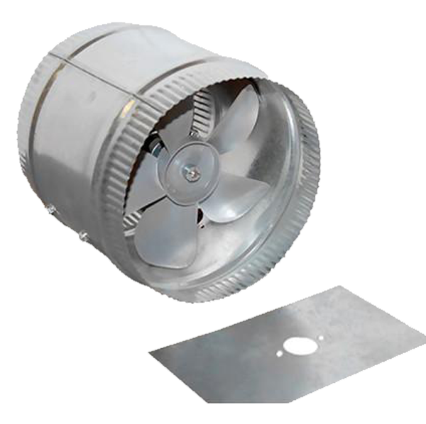 "Acme Miami - 12"" Aluminum Duct Fan, 220V - 9012-02"