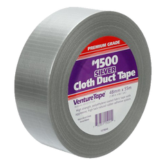 "3M - Professional Grade Cloth Duct Tape, Black (2"" x 150') - 1500-B"