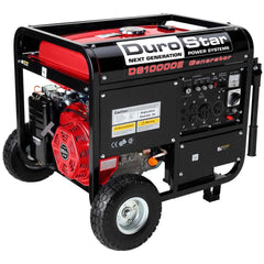 DuroStar - 10000W 18 HP Gas Generator w/ Electric Start and Wheel Kit - DS10000E