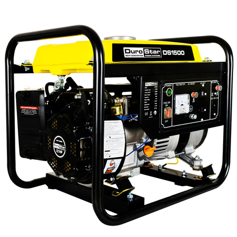 DuroStar - 1,500W 2.1 HP Air Cooled Gas Powered Portable Generator - DS1500