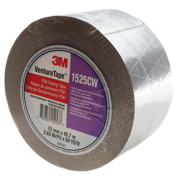 "3M - FSK Insulation Tape (6"" x 150') - 1525CW-6"