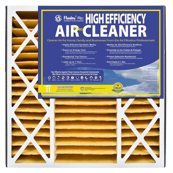 "Flanders - Replacement Air Cleaners, MERV 11 (2 Pack) - 20"" x 25"" x 4"""